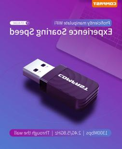 Comfast 1200Mbps Wireless USB Wifi Adapter Dongle Dual Band