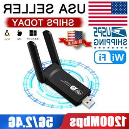 1200Mbps Wireless WiFi Adapter USB 3.0 Dongle Dual Band 5G/2