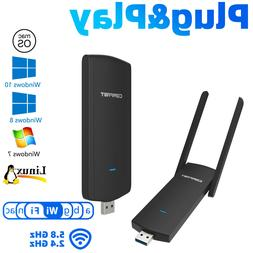1200Mbps 2.4G/5.8GHz Wireless USB WIFI Adapter Dongle Dual B