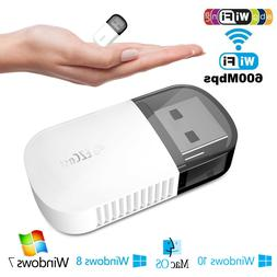 2.4 / 5GHz Dual Band Wireless Network USB WiFi Adapter Dongl
