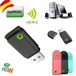 300Mbps USB Wireless Adapters Mini WIFI Dongle For Windows 1