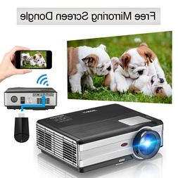 4500LM Home Theater Projector HDMI USB Party Game Movie Nigh