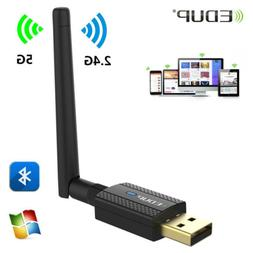 EDUP 600Mbps WiFi Adapter Bluetooth 4.2 USB Dongle 2.4G/5Ghz