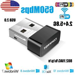 650mbps 2.4 / 5GHz Wireless Network USB WiFi Adapter Dongle