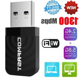 COMFAST USB 3.0 Wireless Network Card 1300Mbps WiFi Dongle A