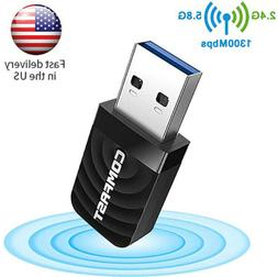 Dual Band 2.4/5Ghz 1200Mbps Wireless WiFi Network USB Adapte