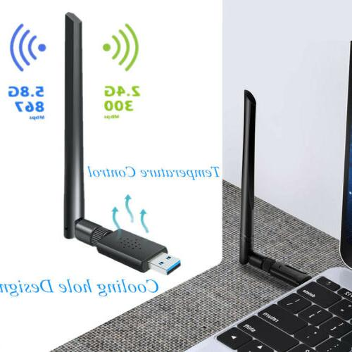 1200mbps wireless usb wifi adapter dongle dual