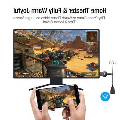 Wireless AnyCast Dongle 1080P TV Stick Airplay Miracast