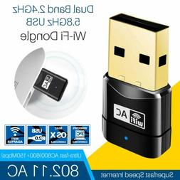 USB Adapter Dongle Wireless WiFi Dual Band 600Mbps 2.4-5ghz