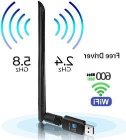 USB WiFi Adapter 600mbps Free Driver USB 3.0 WiFi Dongle Wir