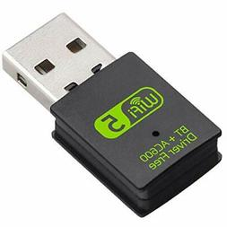 usb wifi bluetooth adapter 600mbps dual band