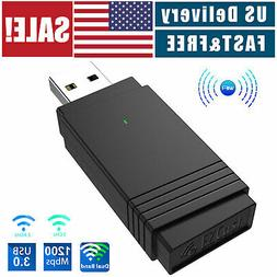 USB 3.0 1200Mbps Wireless WiFi Adapter Dongle Dual Band 5G/2